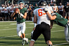 Trinity junior quarterback Seth Jutz looks down field for the open man against Ryle High during a scrimmage on Friday night. 8/10/18