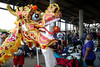 A giant dragon parade float was on site for the Louisville Dragon Boat Festival. 9/8/18