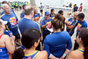 The United Sky Dragons receive last minute coaching before setting sail along the Ohio River for the Louisville Dragon Boat Festival. 9/8/18
