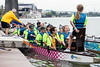 Each team has a drummer seated in the front to help keep the rowing cadence during races at the Louisville Dragon Boat Festival. 9/8/18