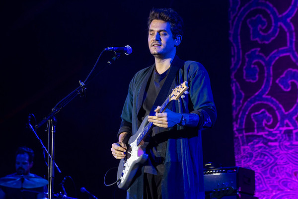 The rain may have poured through his set, but John Mayer's fans stayed into the cold night at Champions Park for day one of Bourbon & Beyond. 9/22/18