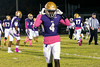 Male WR Geremiah Edison comes off the field after scoring a touchdown against St. X. 10/12/18