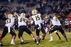 St. X quarterback Douglas Bodhaine lets one fly against the Male defense. 10/12/18