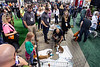 Some of the 23,000 visitors at the GIE+ Expo attended Mutt Madness in Freedom Hall on Thursday. The event, through a partnership with the Humane Society, allowed guests to adopt dogs and puppies on site. 10/18/18