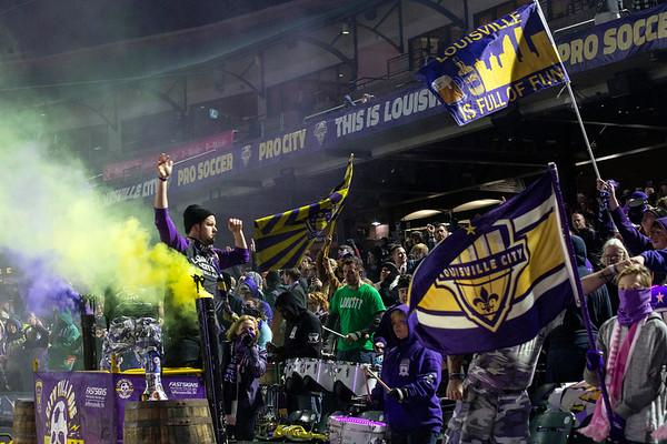 The Louisville FC faithful, collectively known as the Coopers, gathered to watch the team beat Indy Eleven on Saturday night in the first game of postseason play. 10/20/18