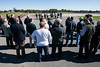 Local leaders and management from the Clark Regional Airport celebrated the opening of a new expanded runway on Wednesday afternoon at the Sellersburg air strip. 10/24/18
