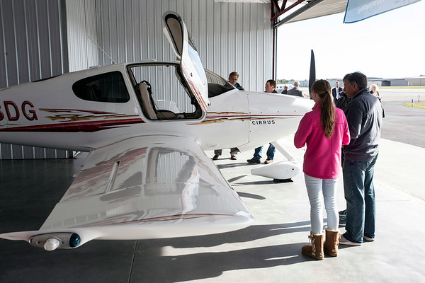 A new hangar was unveiled on Wednesday at the Clark Regional Airport complete with a few small engine planes as party props. 10/24/18
