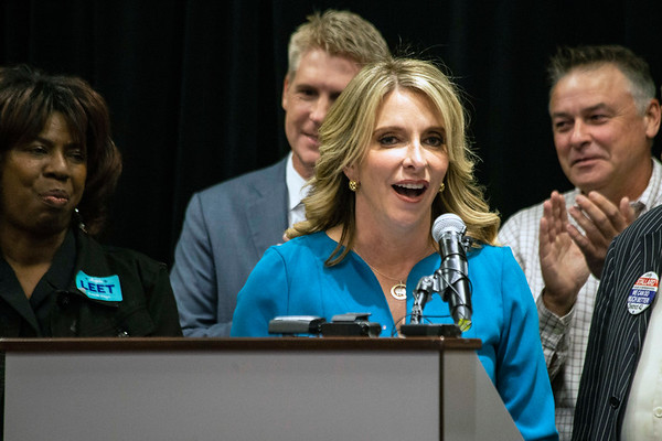 Louisville republican mayoral candidate Angela Leet delivered her concession speech shortly after 9PM at the Crown Plaza on Phillips Lane Tuesday night. 11/6/18