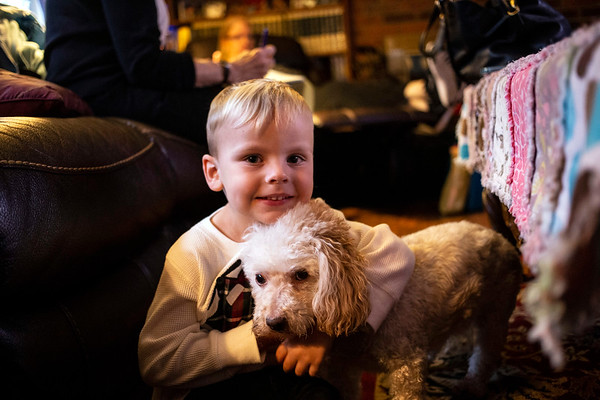 3-year-old David Williams Saleh has a friend in little dog Susie. 11/12/18