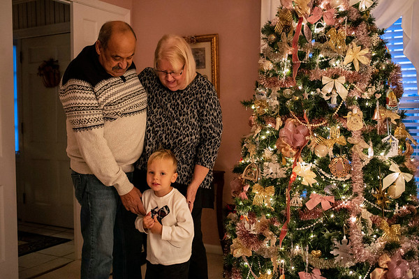 Faye and Jihad Saleh are giving little David Williams a multi-week Christmas experience with a tree installed by early November. 11/12/18