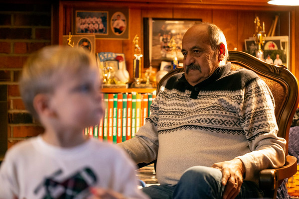 Jihad Saleh has welcomed little David Williams into his Hurstbourne home. 11/12/18