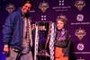 LouCity fans Samuel and Benjamin Deetsch are photographed with the championship trophy during a celebration for the team at Headliners on Tuesday night. 11/13/18