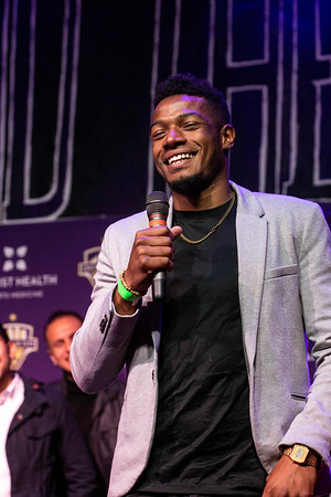 LouCity FC defender Alexis Souahy thanked the fans and his team for the memories attached to a championship season during a celebration at Headliners on Tuesday night. 11/13/18