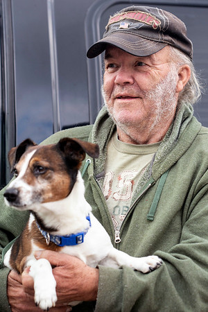 Rocky Cisney and his dog Chopper make the best of hard times as they live in a 1996 Chevy van. 11/18/18