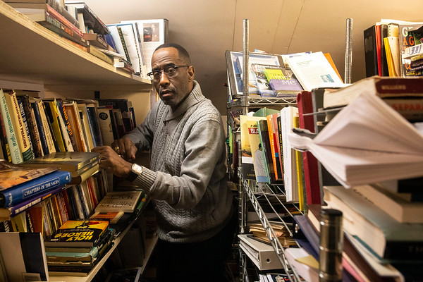 The Reverend Kevin Cosby has a sprawling library on the upper floor of his West Broadway residence with thousands of books he's drawn inspiration from over his years of writing sermons. 11/24/18