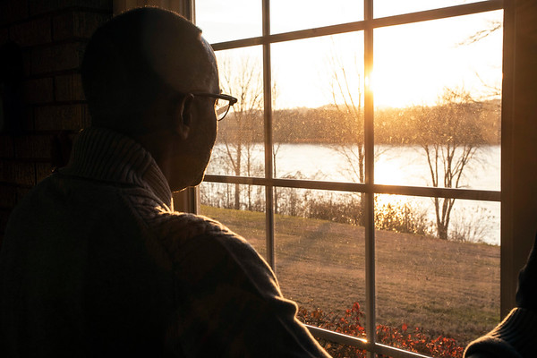 The Reverend Kevin Cosby lives in the last house on West Broadway with an inspiring view of the Ohio River at sunset. 11/24/18