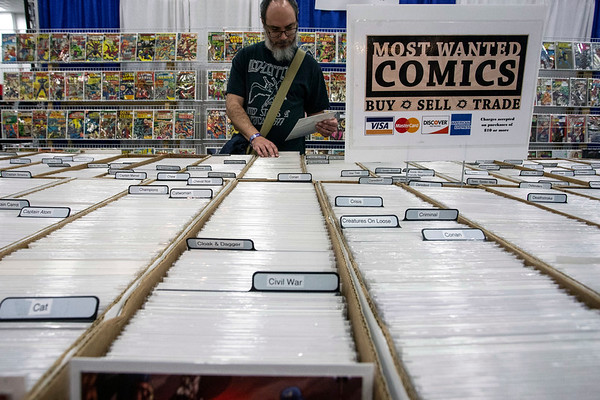 Merchant booths offered comics, costumes, weapons and toys to the fans in attendance at the Louisville SuperCon. 12/1/18