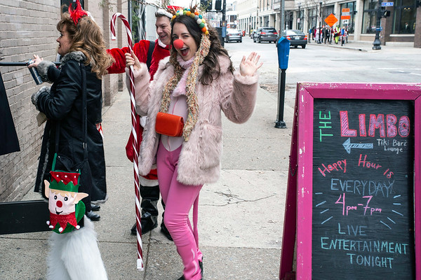 The first stop on the SantaCon path was at the Limbo Tiki Bar & Lounge. 12/8/18