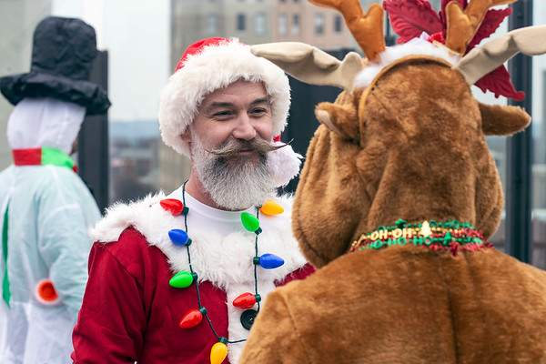 Regalo owner Jon Freels participated in SantaCon on Saturday. 12/8/18