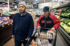 Peer support specialist Ivan Garr takes client Eugene Miller on a regular Friday shopping trip to the Kroger at 2nd & Central as part of the services offered at Wellspring. 12/14/18