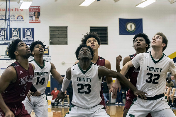 The Ballard Bruins overcame a 10-point deficit in the 4th quarter to take third place in the 2018 King of the Bluegrass Holiday Classic with a win over the Trinity Shamrocks. 12/23/18