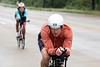 Ironman cyclist Jeff Devries stays focused during the final stretch of the bike portion on Sunday. 10/14/18