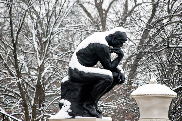 The UofL campus had a blanket of snow on Saturday morning. 1/12/19