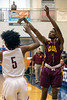 Doss guard Terrell Taylor drains a three during the first round of the Louisville Invitational Tournament at Valley High School on Monday afternoon. 1/14/19