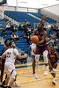 Doss guard Chuck Boyd makes a move against Ballard during the first round of the Louisville Invitational Tournament at Valley High School on Monday afternoon. 1/14/19