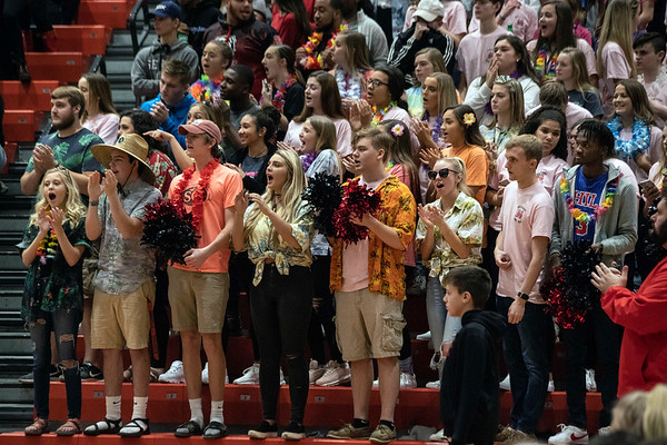 The New Albany student section reminded Silver Creek who's house it was on Friday night. 1/18/19