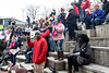 Despite the frigid weather a few hundred people showed up for the annual Louisville Women's Rally on Sunday afternoon at the Muhammad Ali Center. 1/27/19
