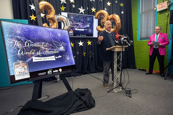Thunder Over Louisville producer Wayne Hettinger discussed details about the upcoming event's 30th year celebration at the Kentucky Derby Festival headquarters on Monday morning. 2/4/19