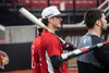 Tyler Fitzgerald watched his UofL teammates during batting practice at Patterson Stadium on Tuesday afternoon. 2/5/19