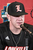 UofL pitcher Nick Bennett answered questions about the team's upcoming season during the team's annual media day. 2/5/19