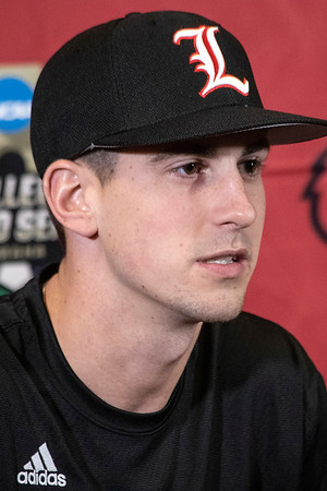 UofL's Bryan Hoeing answered questions during the team's annual media day. 2/5/19