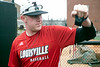 UofL pitcher Nick Bennett warms up his arm during a Tuesday practice at Patterson Stadium. 2/5/19