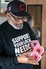 Donald Davis prepares disposal containers to be distributed as part of a Volunteers of America needle exchange program. 2/6/19