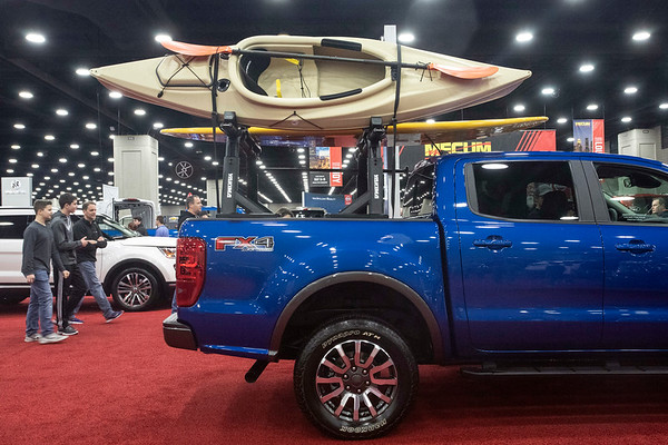 Hundreds of new cars and trucks were on display Saturday during the Louisville Auto Show at the Kentucky Exposition Center. 2/23/19