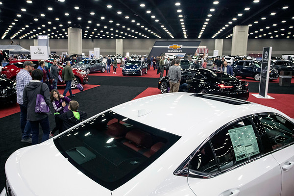 Attendees at the Louisville Auto Show took in the sites on Saturday afternoon. 2/23/19