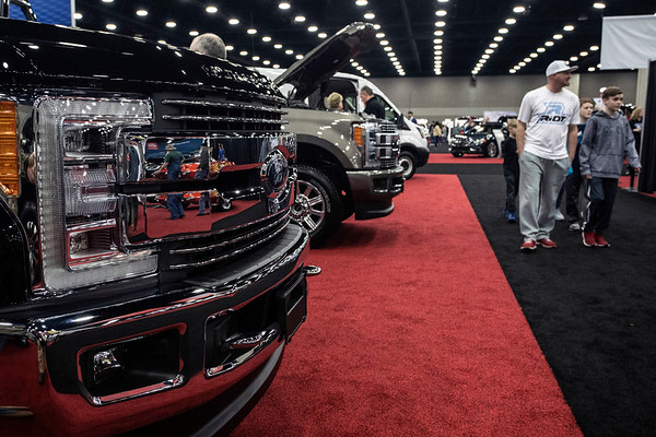 New trucks are also part of the mix of featured vehicles at the annual Louisville Auto Show. 2/23/19