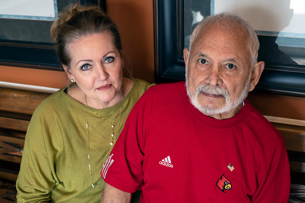 Teresa and Sedat Acton manage a salon in St. Matthews and remain loyal UofL fans. 3/8/19