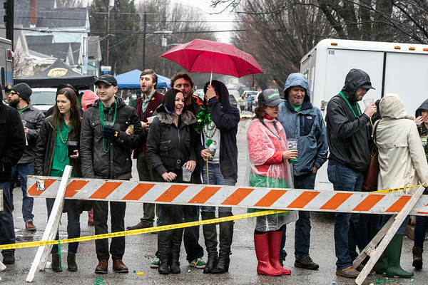 Devoted watchers of the St. Patrick's Parade withstood the rainy conditions on Saturday to enjoy the annual event that features over 150 entrants. 3/9/19