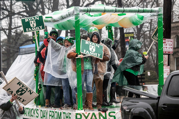 One of Louisville's multi-generational Irish clans known as the Ryans took part in the annual St. Patrick's Parade on Saturday. 3/9/19