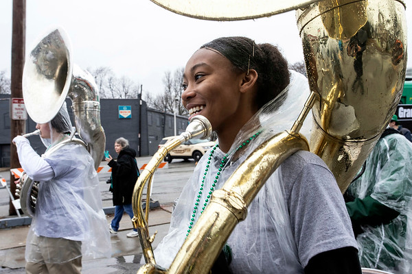 The Western High School Warrior Band became the first of its kind in Louisville to participate in the St. Patrick's Parade. 3/9/19