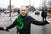 Louisville mayor Greg Fischer proclaimed the rainy day to be well in the Irish theme of things as he marched along the route of the St. Patrick's Parade on Saturday. 3/9/19