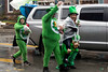 A mix of magical creatures distributed precious beads during the St. Patrick's Parade on Saturday. 3/9/19