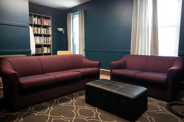 A new LGBTQIA+ safe space on East Broadway includes a library and TV room. 3/15/19