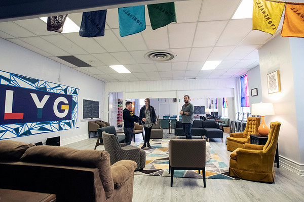The Leadership Louisville Ignite Program and Louisville Youth Group have opened a new safe space for the LGBTQIA+ community at 417 East Broadway. 3/15/19
