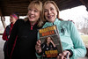 Kathrine Switzer autographed a copy of her book Marathon Woman for Suzanne Duvall during a meet and greet with fellow runners in Cherokee Park on Thursday. 3/21/19
