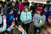 Kathrine Switzer signed photos and books for some of her fans near Hogan's Fountain in Cherokee Park on Thursday afternoon. Switzer became the first woman to run the Boston Marathon as a numbered entrant in 1967. 3/21/19